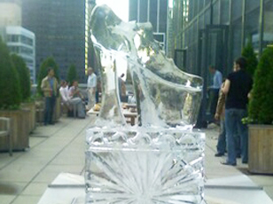 Platform Shoes Ice Sculpture