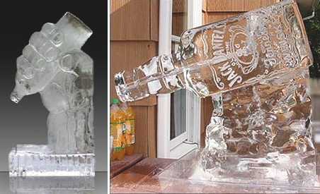 Hand Bottle and Jack Daniels Ice Luge