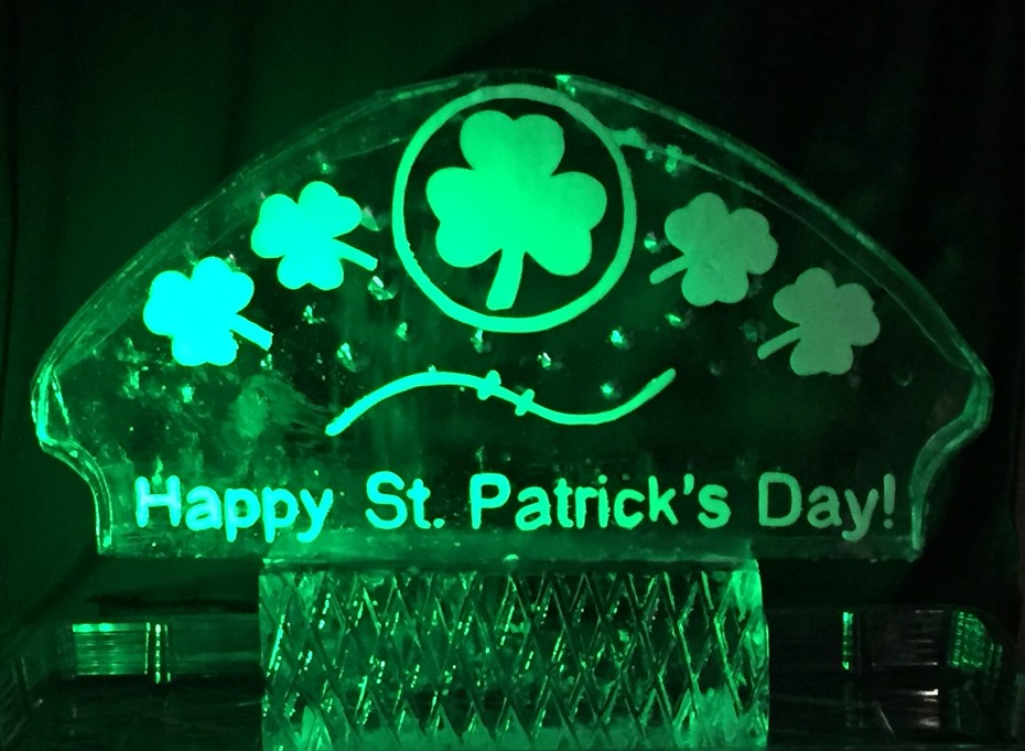Happy St. Patrick's Day in Ice